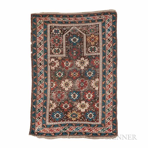 """Snowflake"" Kuba Prayer Rug"