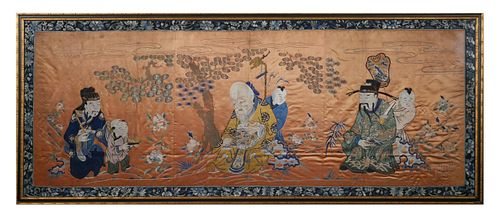 Chinese Qing Silk Kesi Tapestry Embroidery