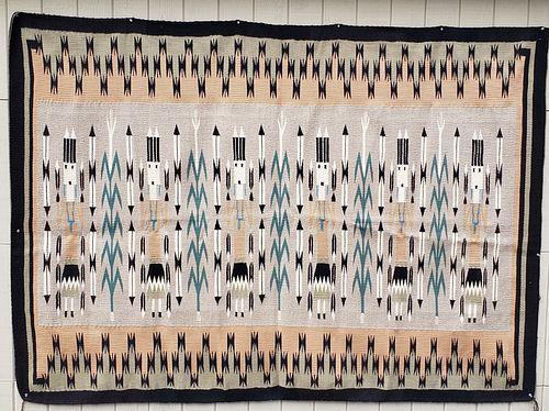 Large, Mint Navajo Woven Yei Rug
