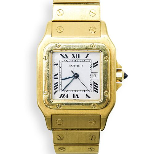 Cartier Santos Galbee 18k Gold Watch