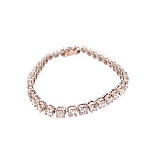 Platinum Diamonds Tennis Bracelet