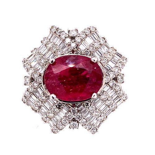 Ruby Diamonds 18k Gold Ring