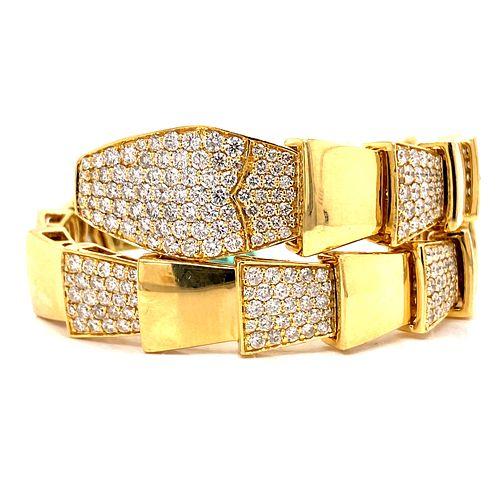 18k Gold Serpenti Diamonds Bracelet