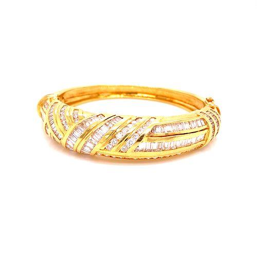 14K Gold Diamonds Bangle BraceletÊ