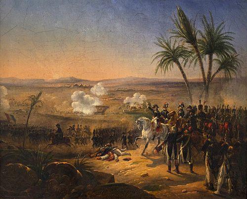 Hippolyte Bellange, Bonaparte harangue ses troupes pendant la bataille des Pyramides, 1823