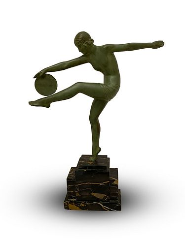 Demétre Haralamb Chiparus, Cold-painted bronze figure c. 1930