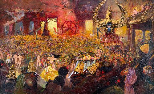 Henri-Jules Corneille de Groux, Le Bal des 4 Arts, 1902