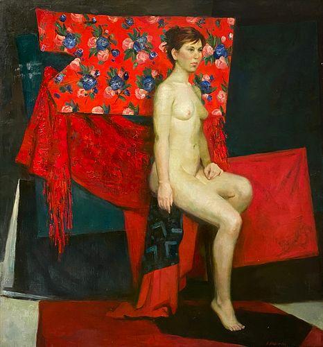 Anna Marinova, Red Nude