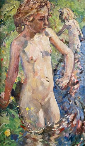 Eramus Bernhard van Dulmen Krumpelman, A Girl Swimming