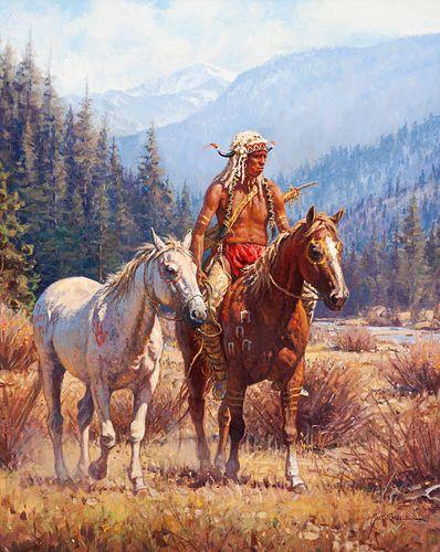 Martin Grelle (American, b. 1954) A Warrior's Pride, 2001