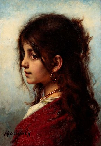 Alexej Harlamoff (Russian/French, 1840-1925) The Young, Unbridled Girl