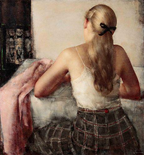Grigory Gluckmann (Russian, 1898-1973) Jeune Fille