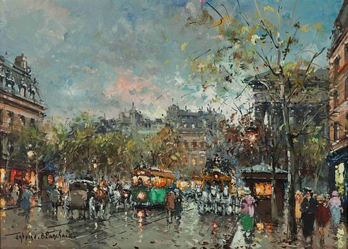 Antoine Blanchard (French, 1910-1988) Place de la Madeleine