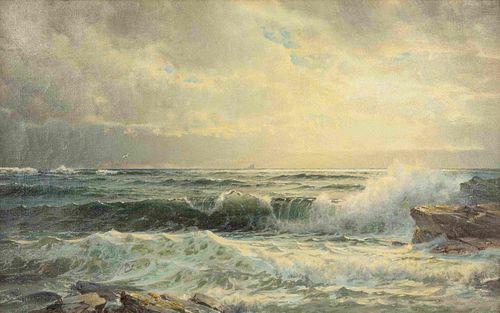 William Trost Richards (American, 1833-1905) Crashing Waves, 1885