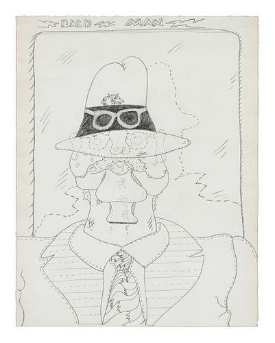 Jim Nutt (American, b. 1938) Back Man (Study for Back Man), c. 1966