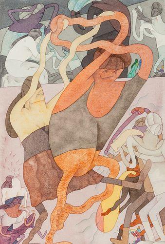 Gladys Nilsson  (American, b. 1940) 2 Dansers, 1975