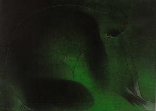 Ricardo Martinez(Mexican, 1918-2009) Mujer en Verde, 1974