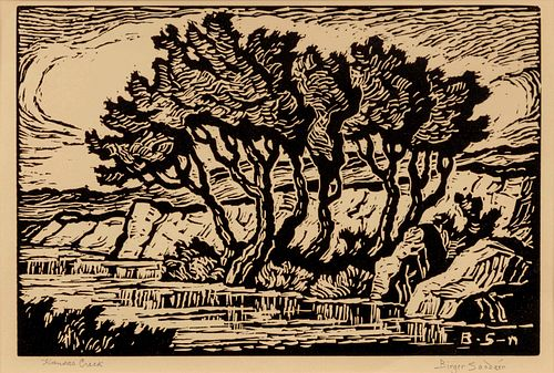 Birger Sandzen (American, 1871-1954) Kansas Creek