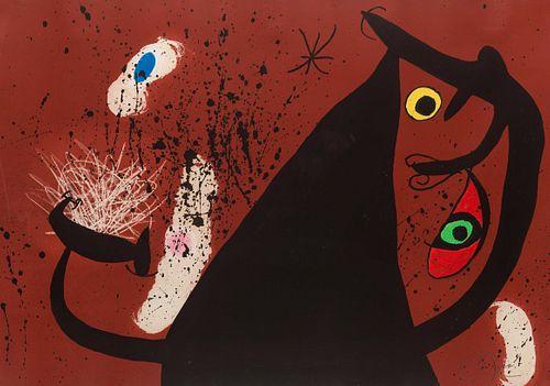 Joan Miro (Spanish, 1893-1983) La Frappeuse de silex, 1973
