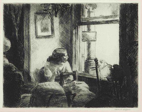 Edward Hopper (American, 1882-1967) East Side Interior, 1922