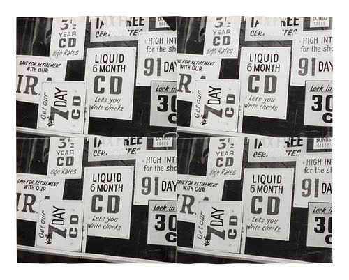 Andy Warhol (American, 1928-1987) Liquid Cds, 1976-1986