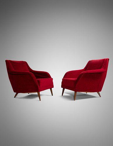 Carlo De Carli (Italian, 1910-1999) Pair of Lounge Chairs, Cassina, Italy, c. 1954