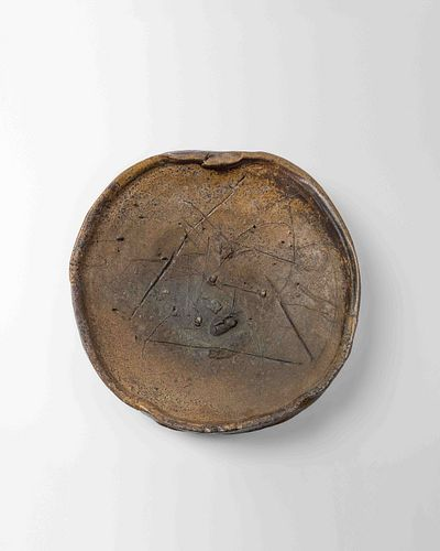 Peter Voulkos (American, 1924-2002) Untitled Plate, 1981