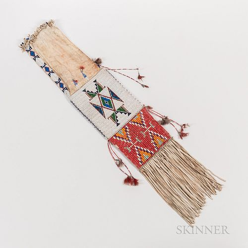 Plains Beaded and Quilled Pipe Bag