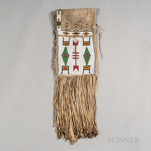 Central Plains Beaded Hide Double Saddlebags
