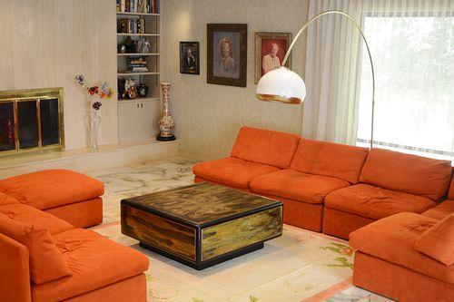 Milo Baughman for Thayer Coggin 9 pcs mid century sofa