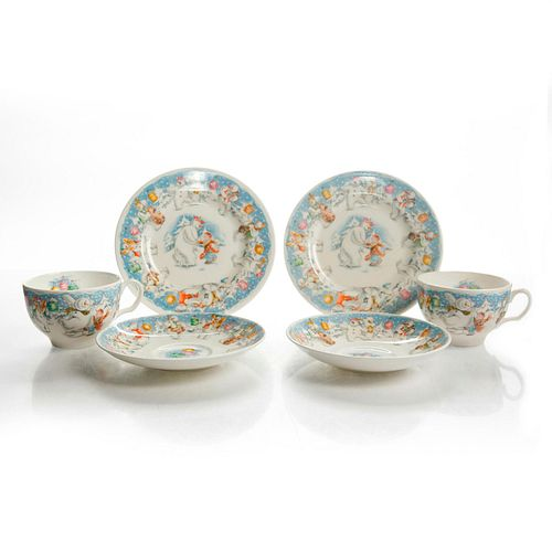 ROYAL DOULTON TEA SERVICE FOR TWO JAMES AND THE SNOWMAN