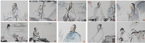 (10) Zhaohe Jiang (China, 1904-1986) Watercolors