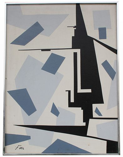 Farr, Signed Mid C. Abstract Painting