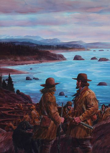 """Tom McNeely (B. 1935) """"Sighting the Pacific"""""""