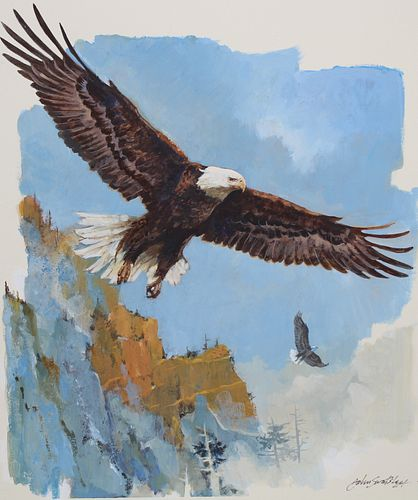 "John Swatsley (B. 1937) ""Bald Eagle"""