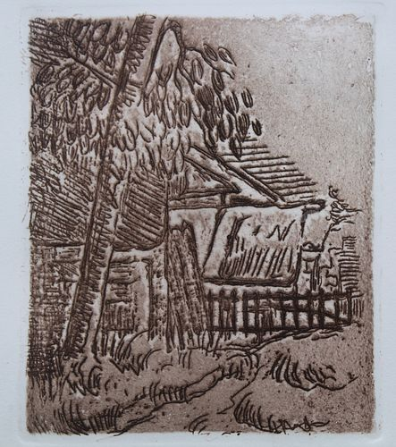 "Paul Cezanne (1839-1906) ""Landscape in Auvers"""