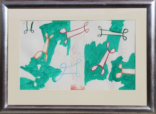 Markus Lupertz <br>(Born 1941) Original Abstract