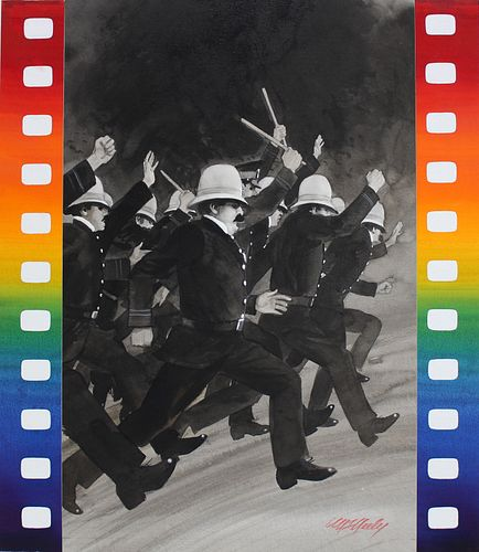 "Tom McNeely (B. 1935) ""Keystone Cops"""