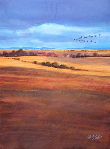 "Tom McNeely (B. 1935) ""Amber Waves of Grain"""