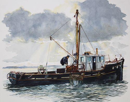 "Brian Sanders (B. 1937) ""Oyster Dredger"""