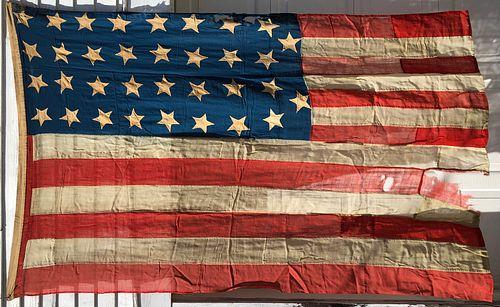 Fine Large 34 Star Civil War Flag