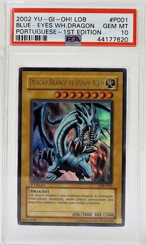 YuGiOh P001 Blue Eyes White Dragon 1st Ed PSA 10