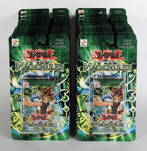 28PC 2002 YuGiOh Magic Ruler TCG Blister Pack Lot
