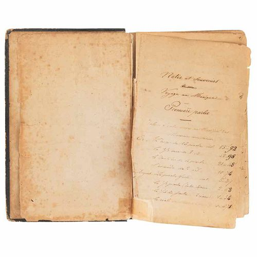 Handwritten Diary of a French officer in Mexico During the French Intervention. México, 1862-1864.