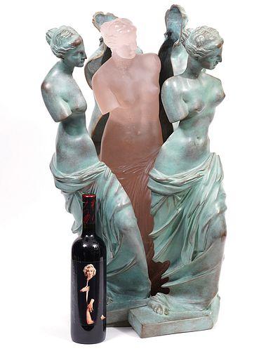 Daum Bronze & Glass 'Naissance Rose' by Arman
