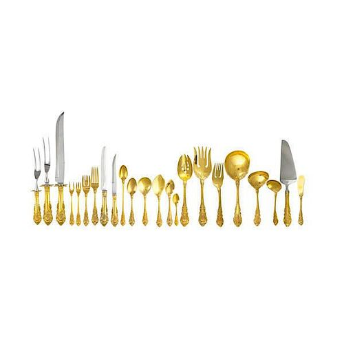"WALLACE ""SIR CHRISTOPHER"" STERLING FLATWARE SERVICE"