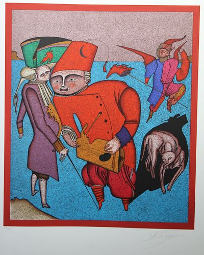 "Mihail Chemiakin (B 1943) ""Untitled VIII"" (33/225)"