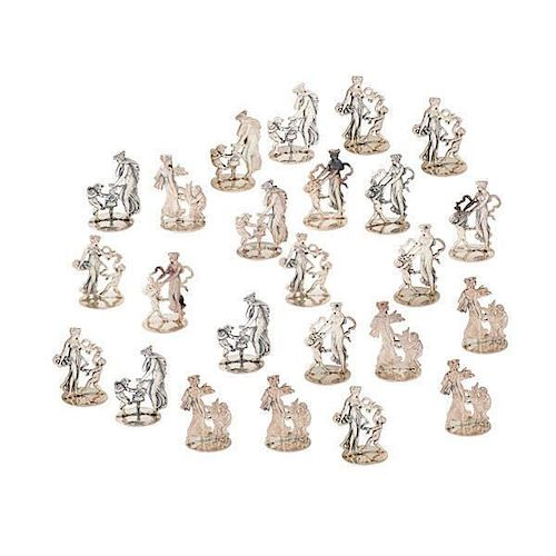 FRENCH STERLING FIGURAL PLACEHOLDERS