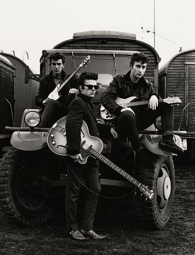 ASTRID KIRCHHERR (* 1938) The Beatles (George Harrison, Stuart Sutcliffe, John Lennon), Germany 1960