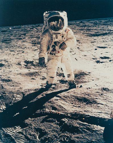 NEIL ARMSTRONG (1930–2012) Buzz Aldrin on the moon, Apollo 11 Moon Landing, July 1969